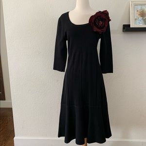 Soft Surroundings Black Dress with rosette